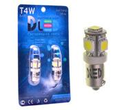 Светодиодные автолампы T4W BA9S Цветные